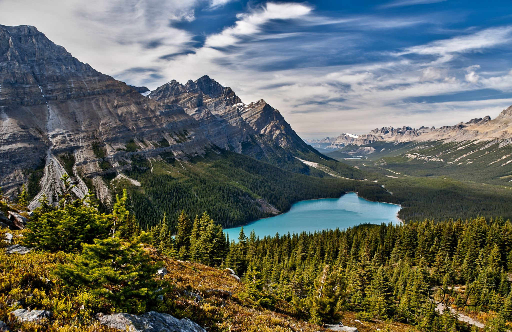 Peyto lake from the Bow Summit Trail, Canada