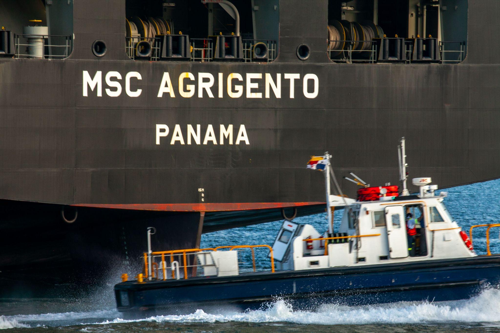 Pilot boat entrance to the Panama Canal, Panama