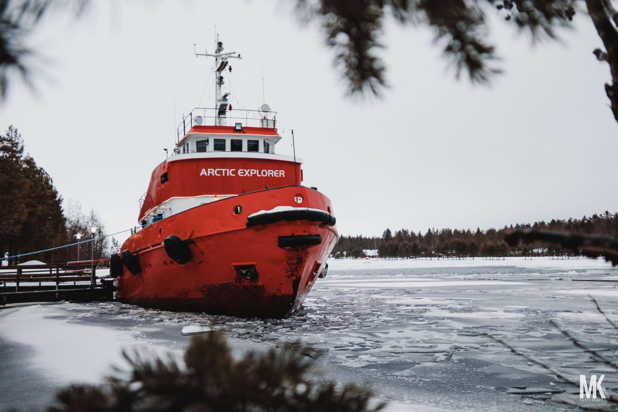 Pitsundsbron norra Icebreaker dock, Piteå Sweden, Sweden