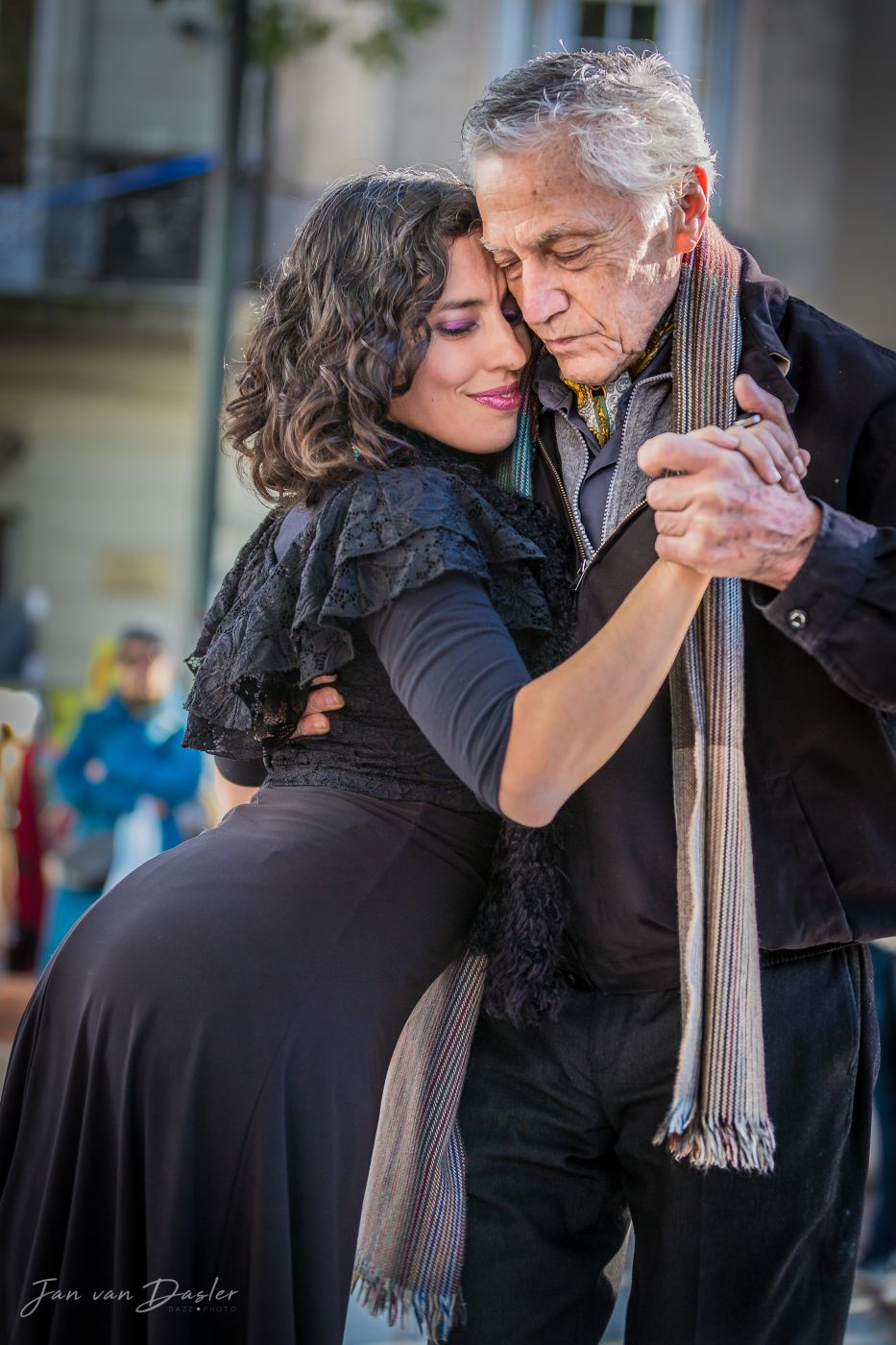 Tango Dancing at Plaza Dorrego, Argentina