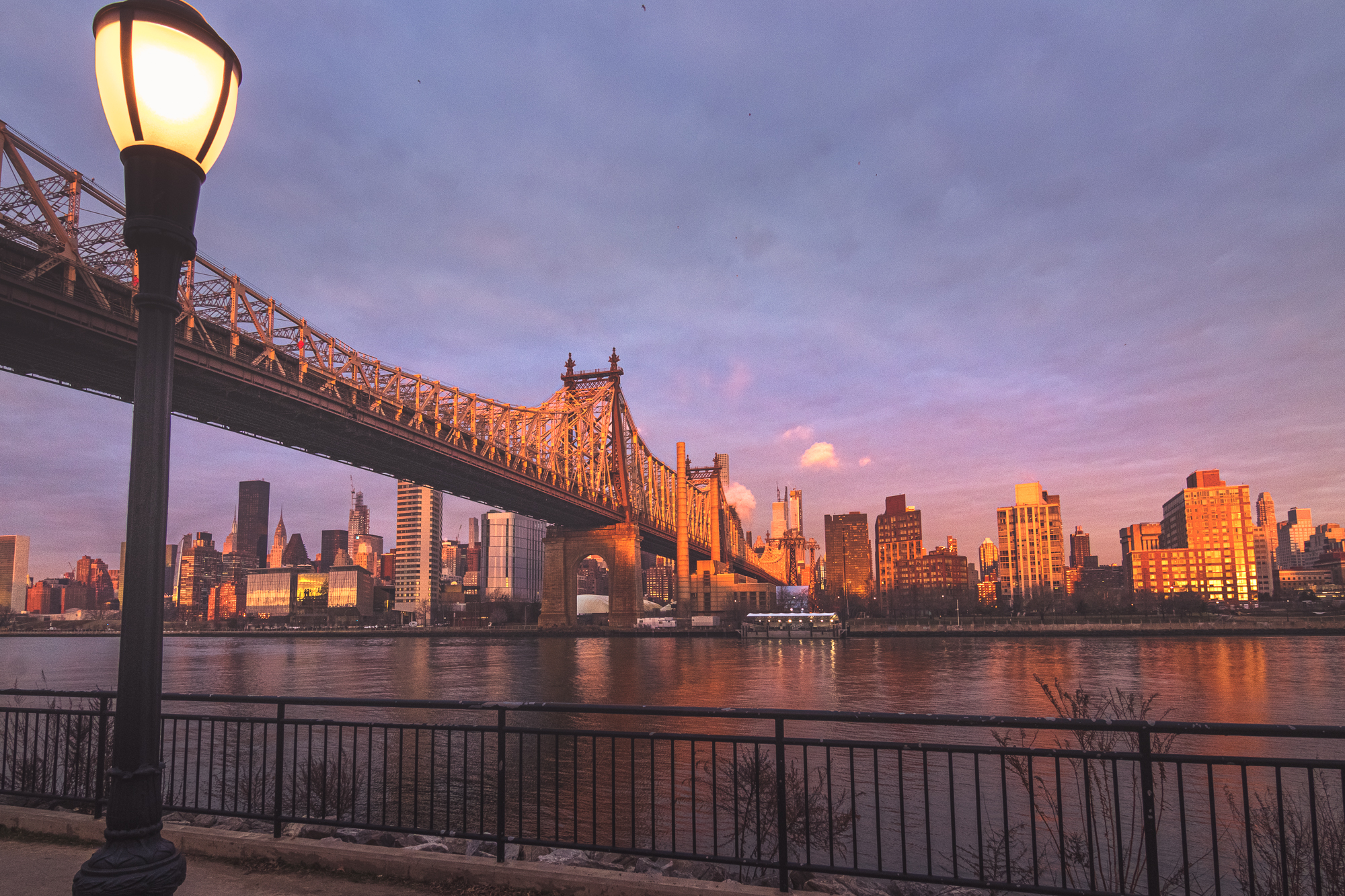 Queensboro bridge sunrise, USA