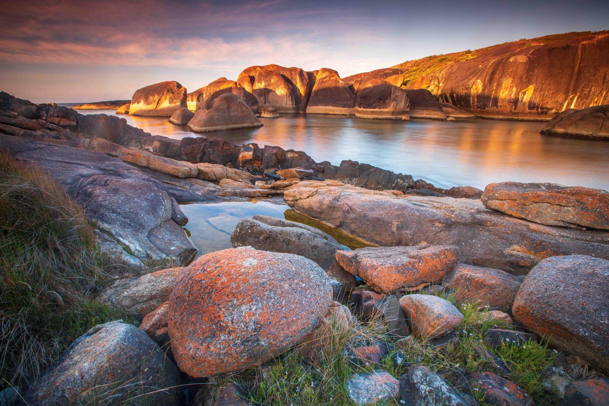 Red Rock, Elephant Rock sunrise Denmark Western Australia, Australia