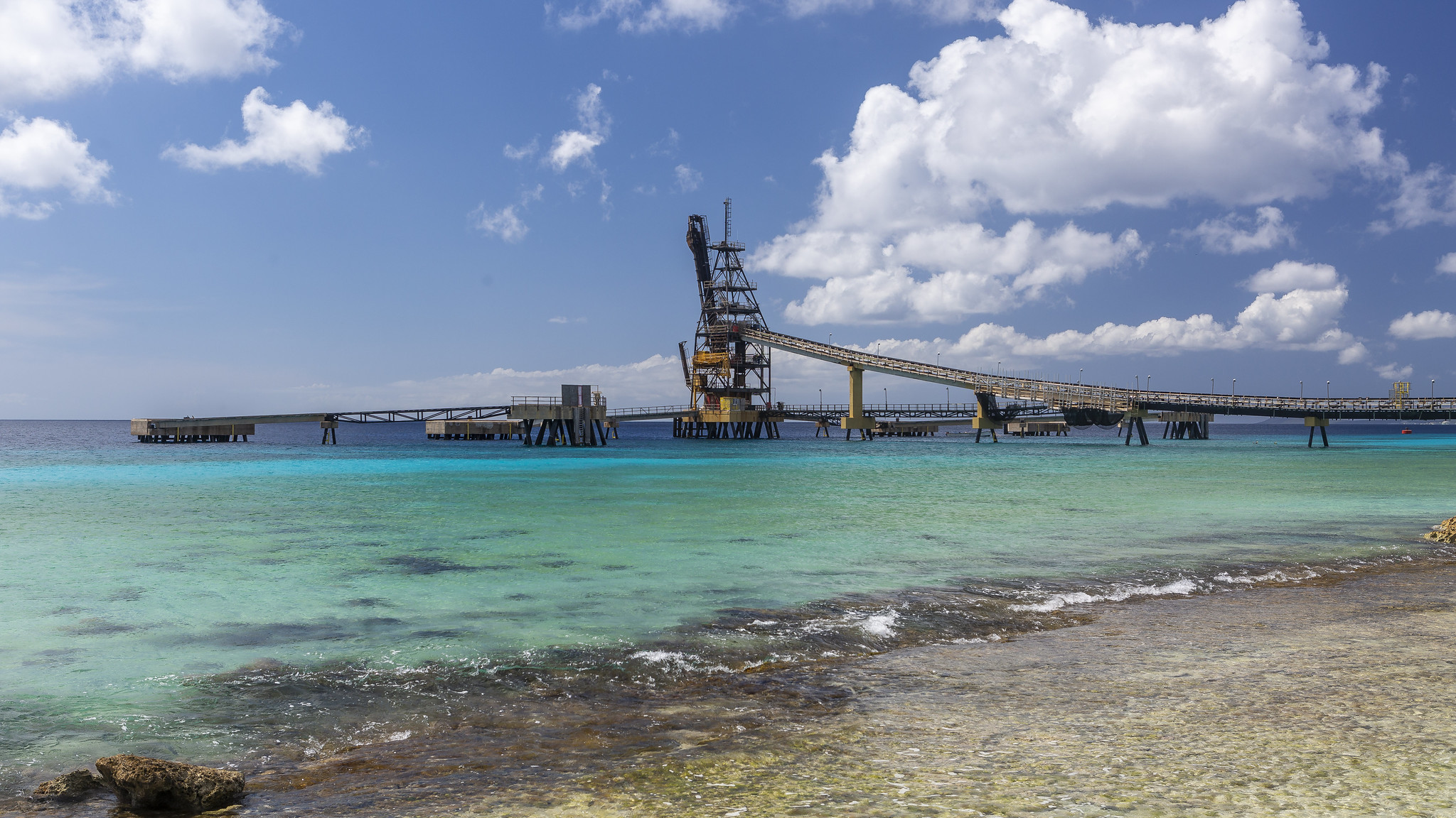Salt Pier and Piles, Bonaire