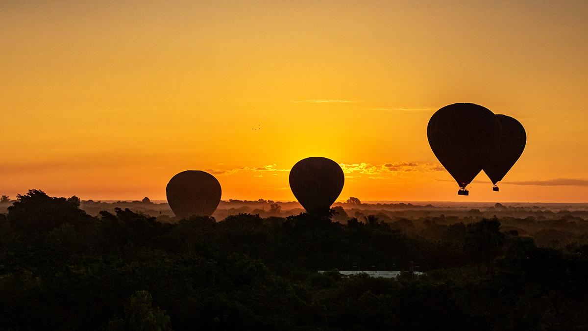 Unterwegs im Ballon, Myanmar
