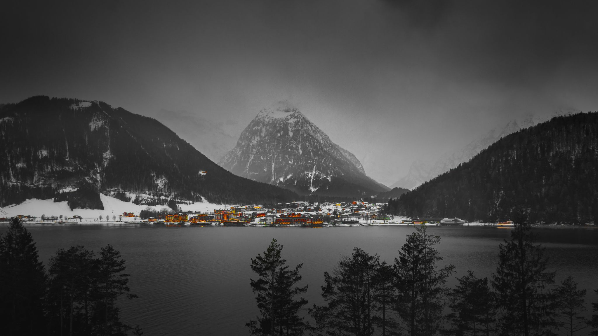 View across the Lake, Austria