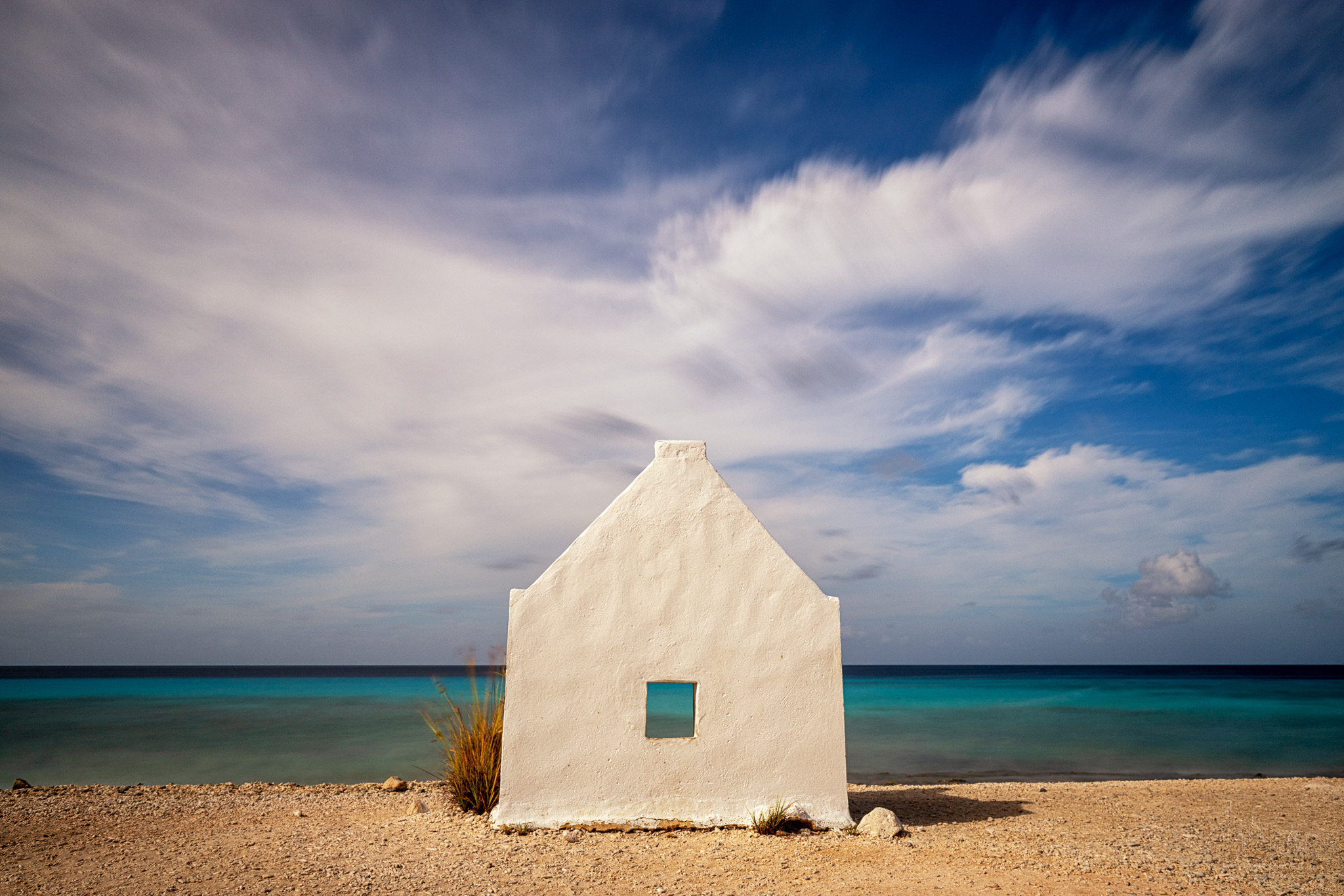 White Slave huts on Bonaire, Bonaire