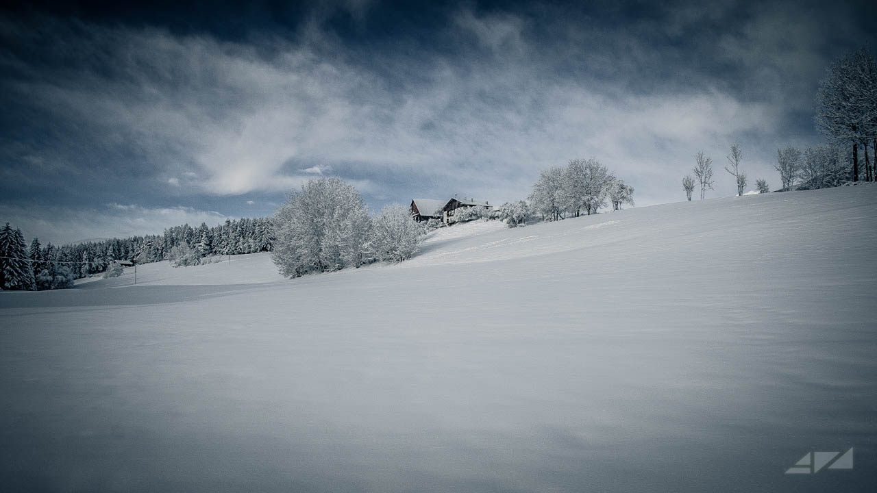 White snowy expanse, Italy