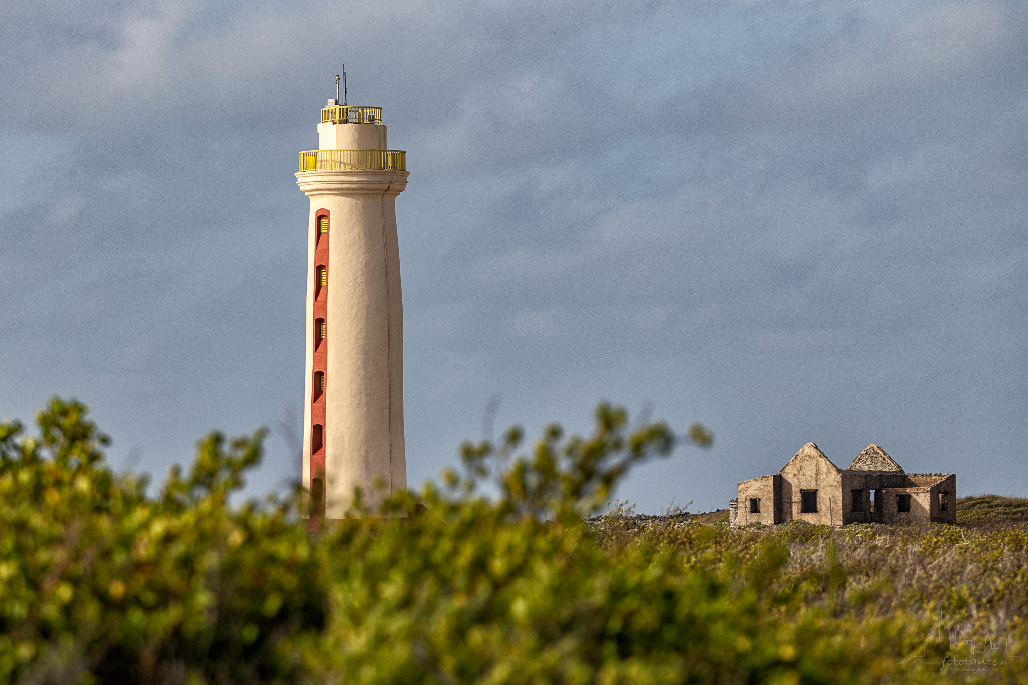 Willemstoren Lighthouse - view from the east, Bonaire