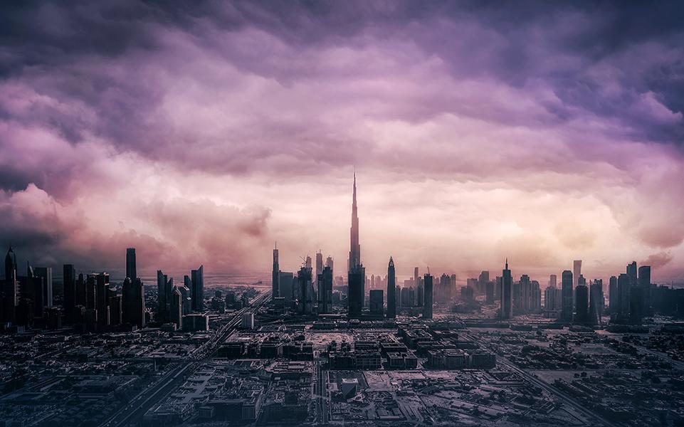 Above Dubai, United Arab Emirates