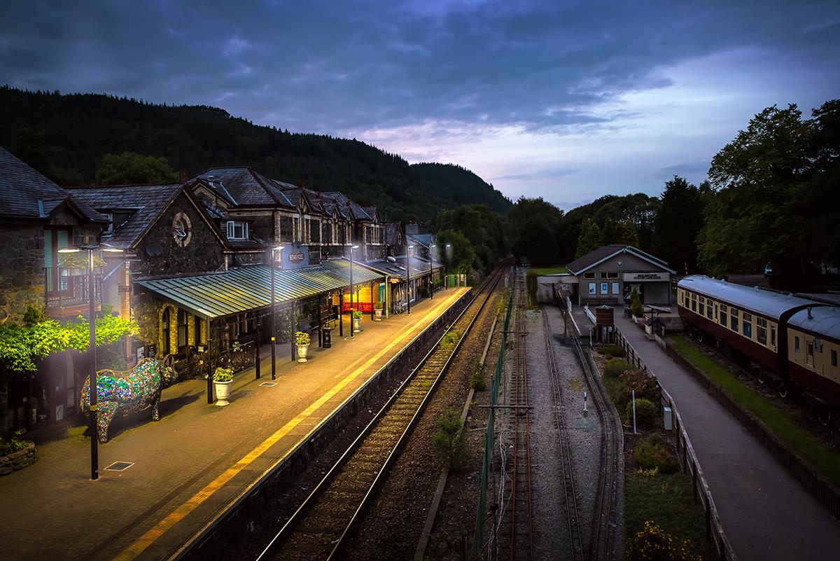 betws-y-coed, train station in wales, United Kingdom