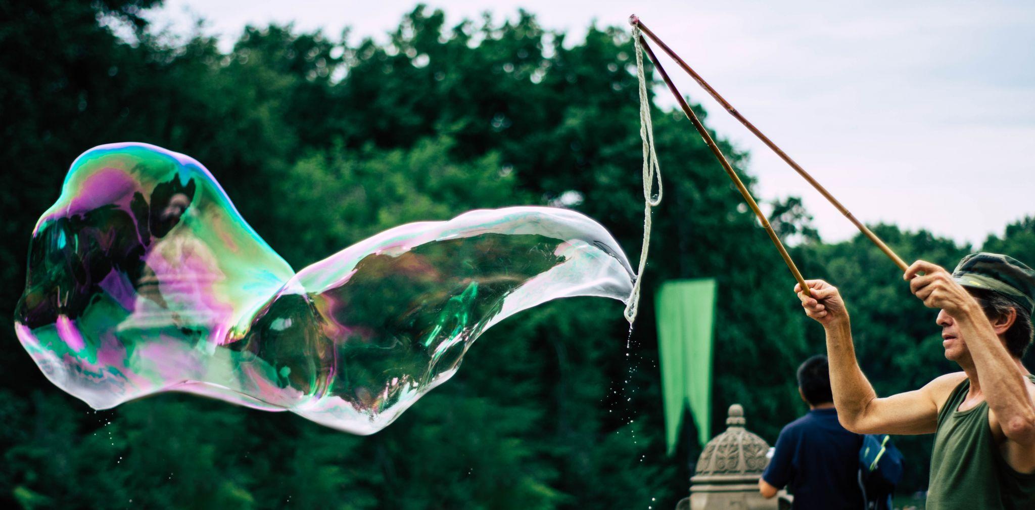 Big Bubble in Central Park, USA