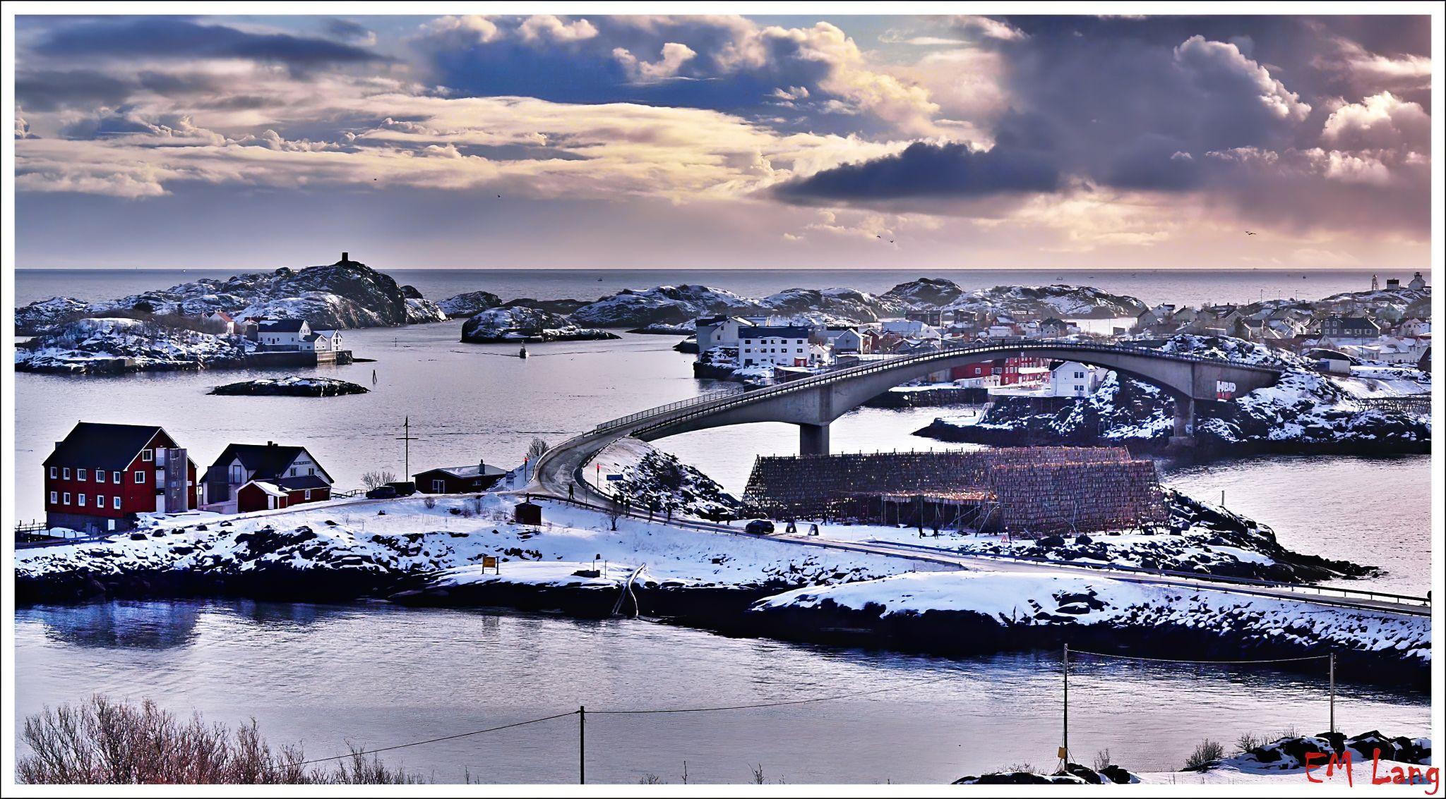 Bridge to Henningsvaer, Norway