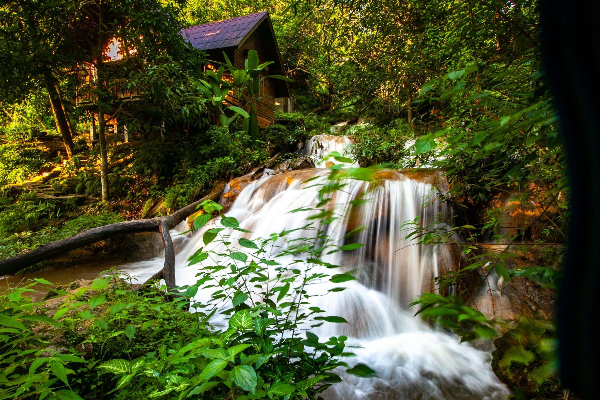 Chiang Mai Maetaman waterfall & Hut, Thailand