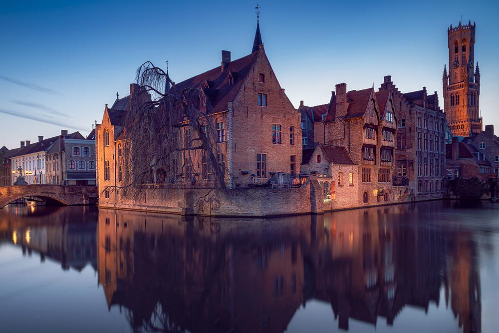 Dijver Canal Bruges, Belgium