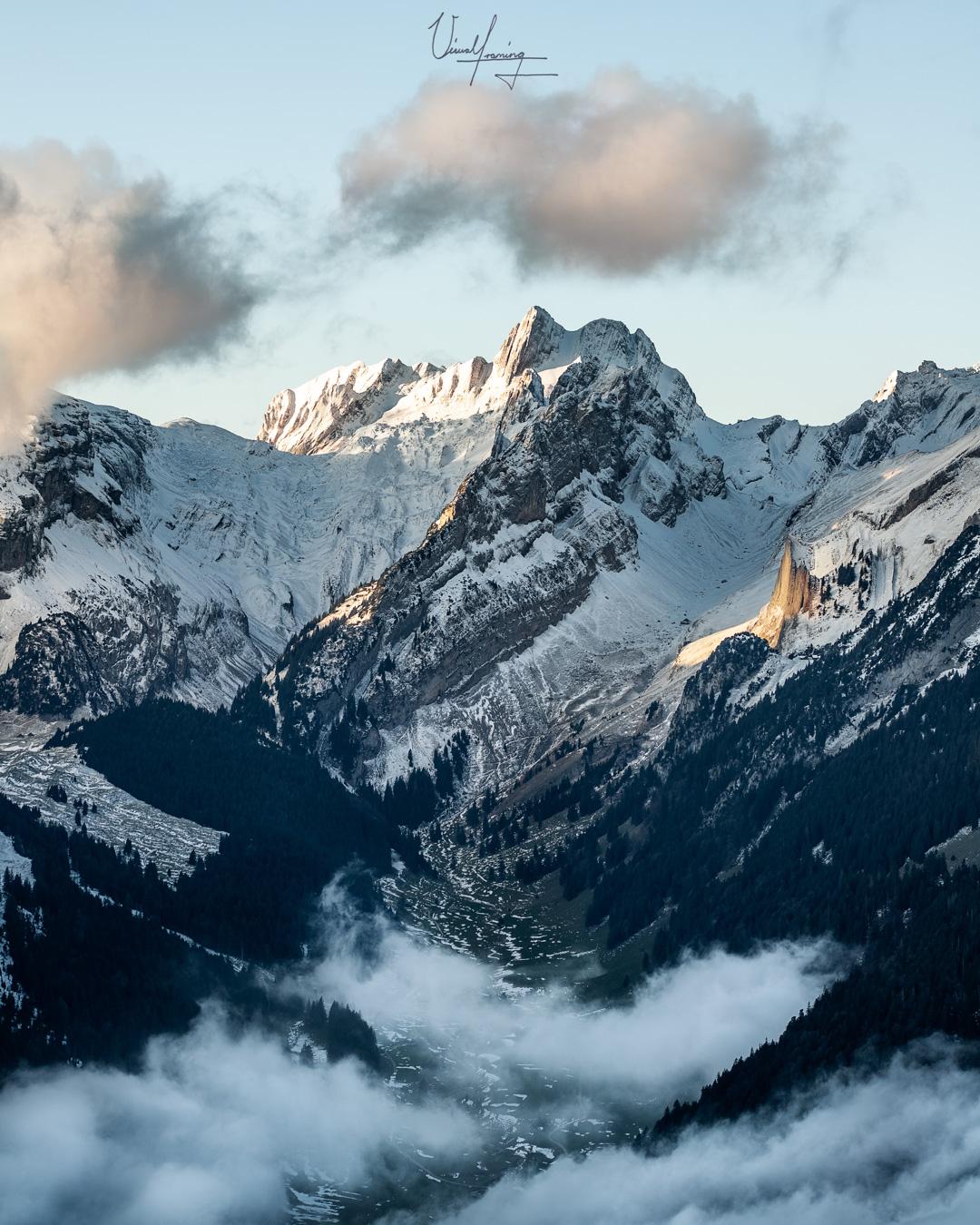 Hoher Kasten View on Altmann, Switzerland