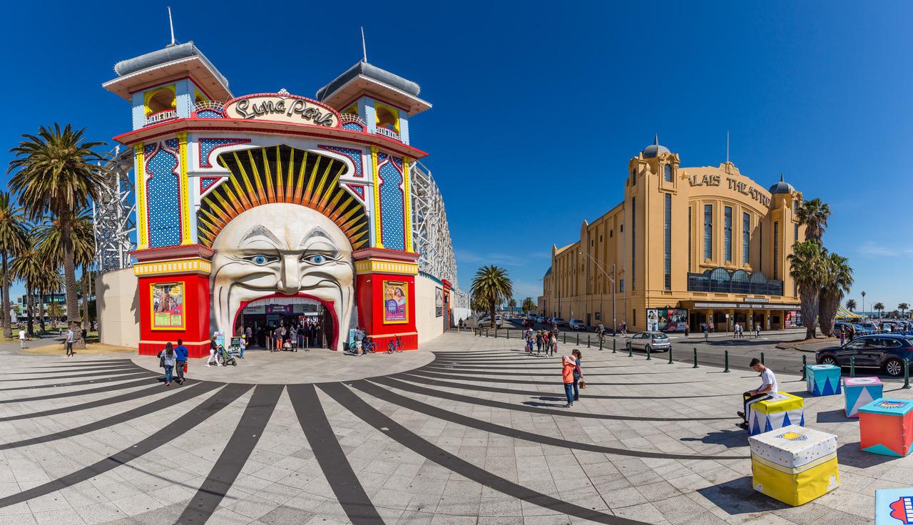 Luna Park & Palais Theatre, St Kilda, Melbourne Australia, Australia