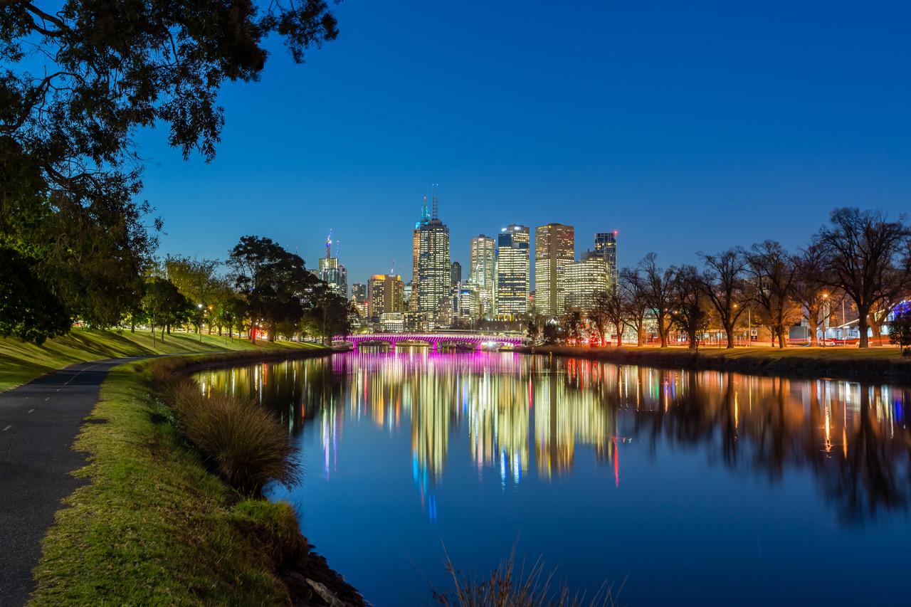 Melbourne Australia, Yarra River, Swan Street Bridge, Australia