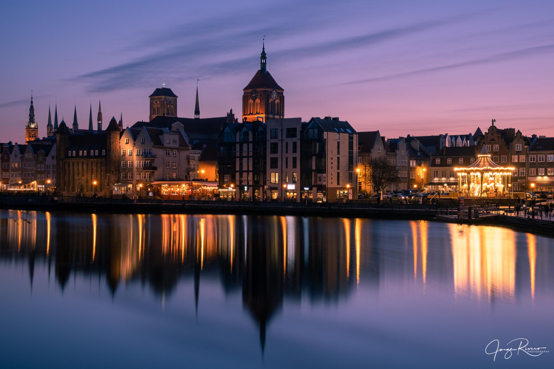 Motlawa Riverside in Gdansk, Poland