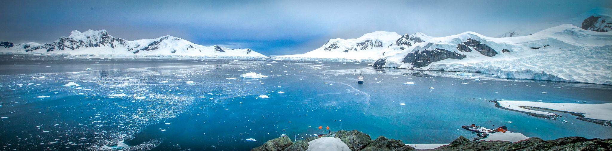 Neko Harbour Panorama Antarctica, Antarctica