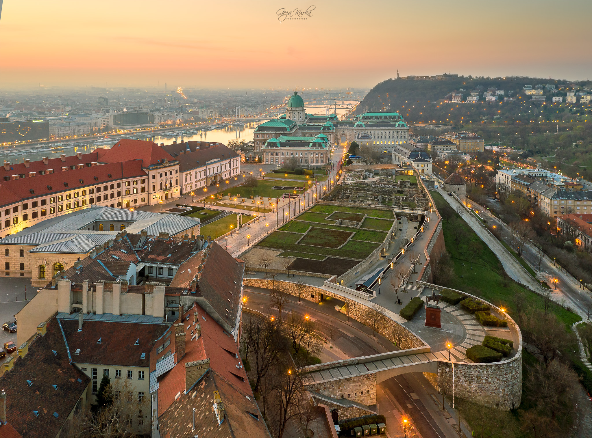 Part of Buda Castle with Drone, Hungary