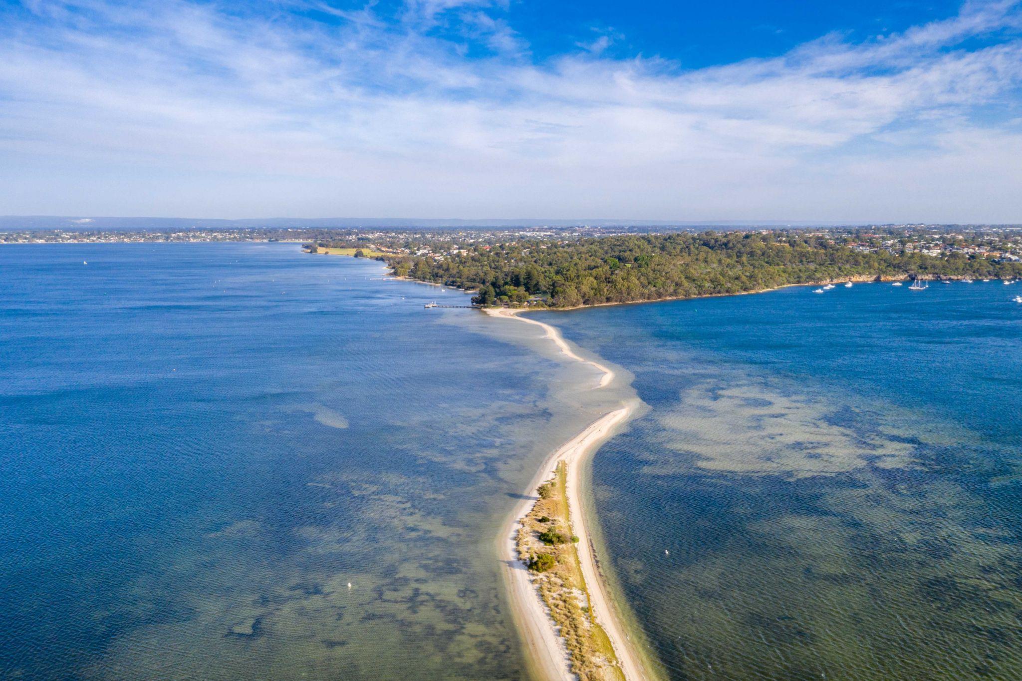 Point Walter sand bar Dyoondalup, Perth, Western Australia, Australia