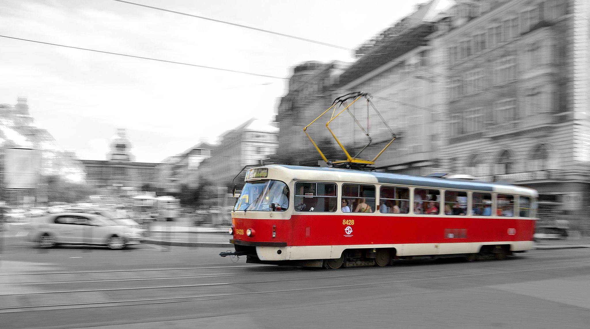 Prague's old tram, Czech Republic