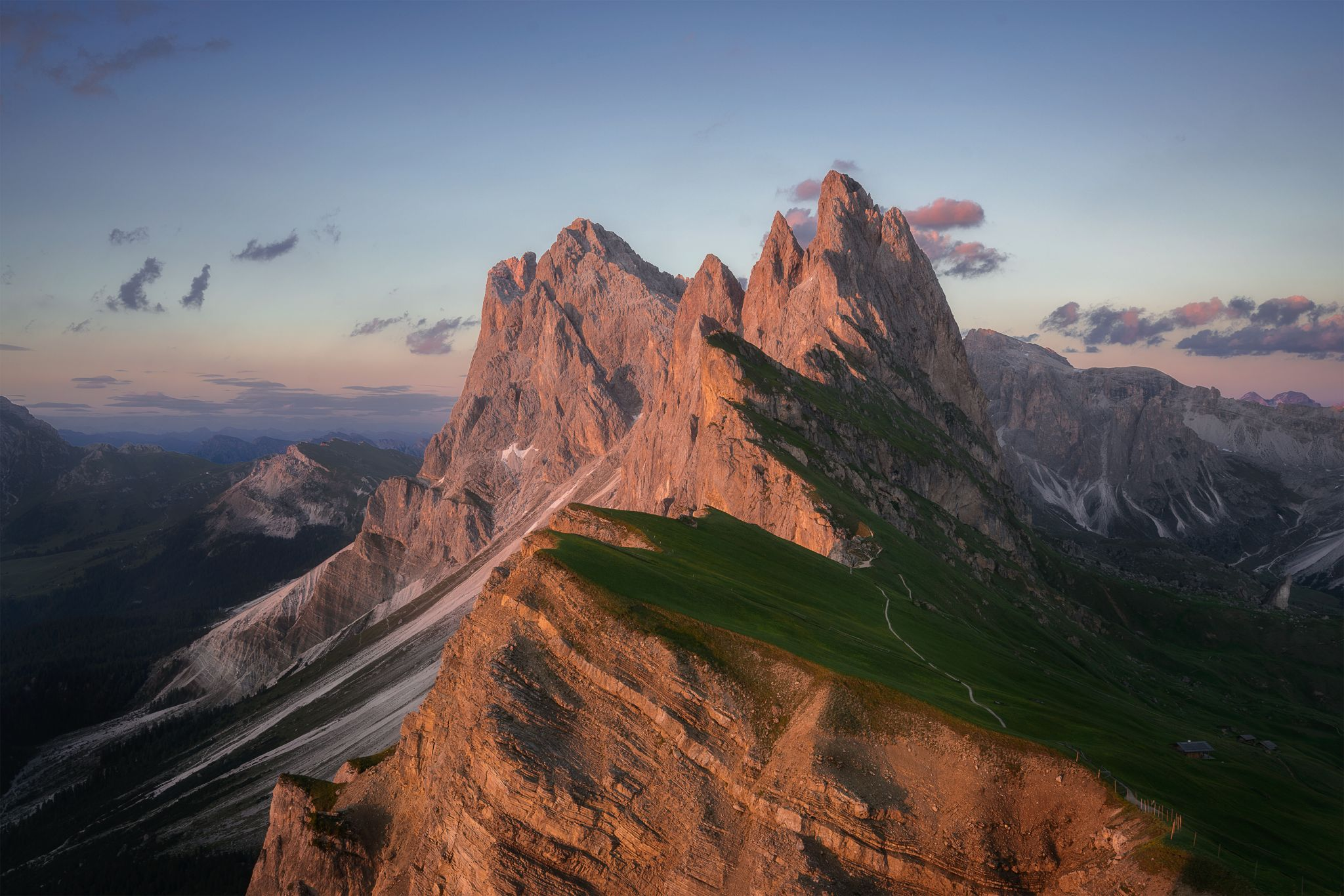 Seceda - king of the mountains, Italy