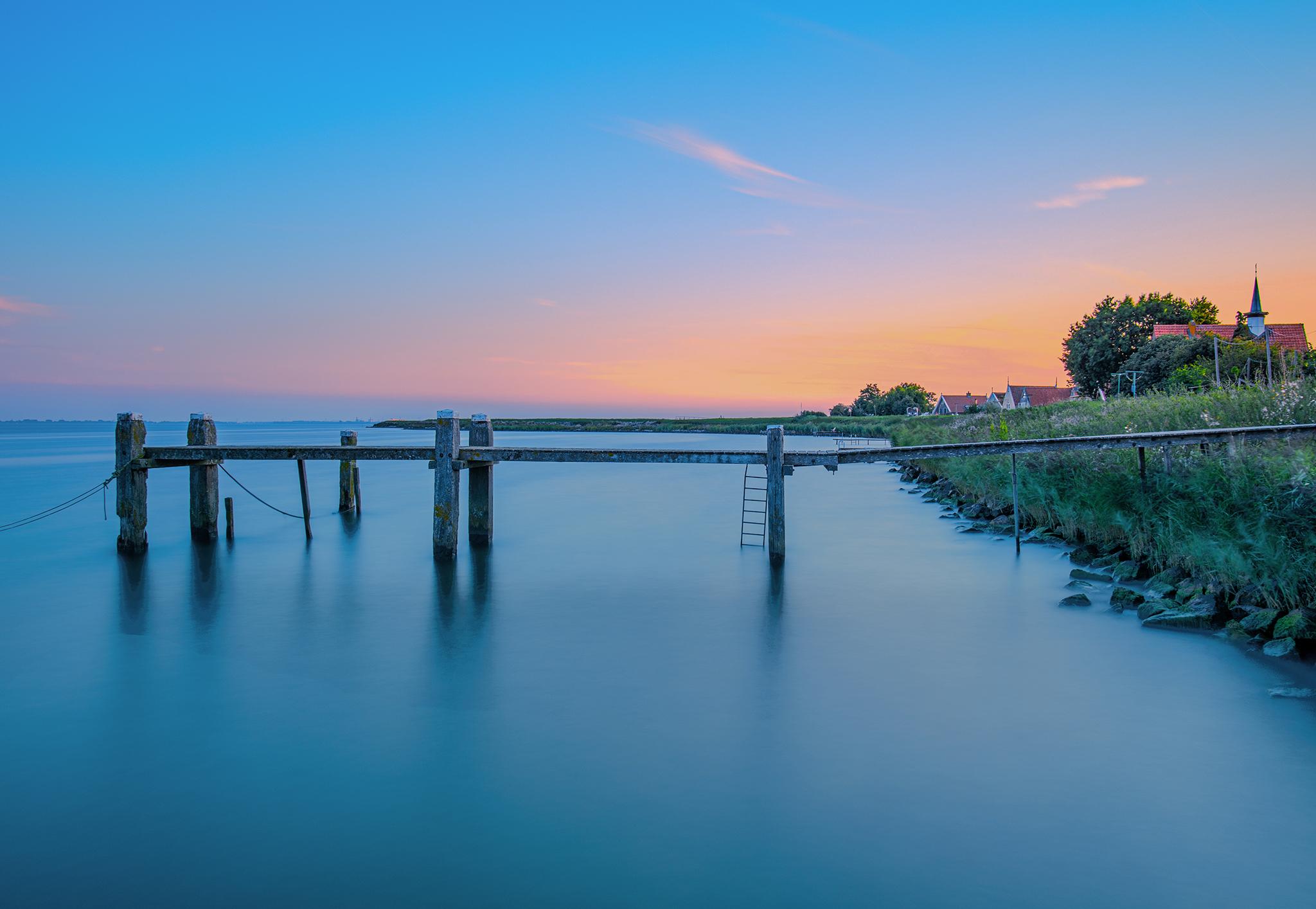 Soft sunset on Markermeer, Netherlands