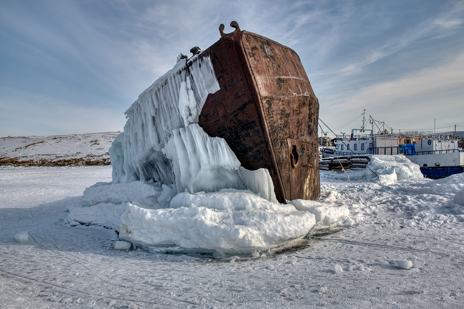 Stranded ship, Russian Federation