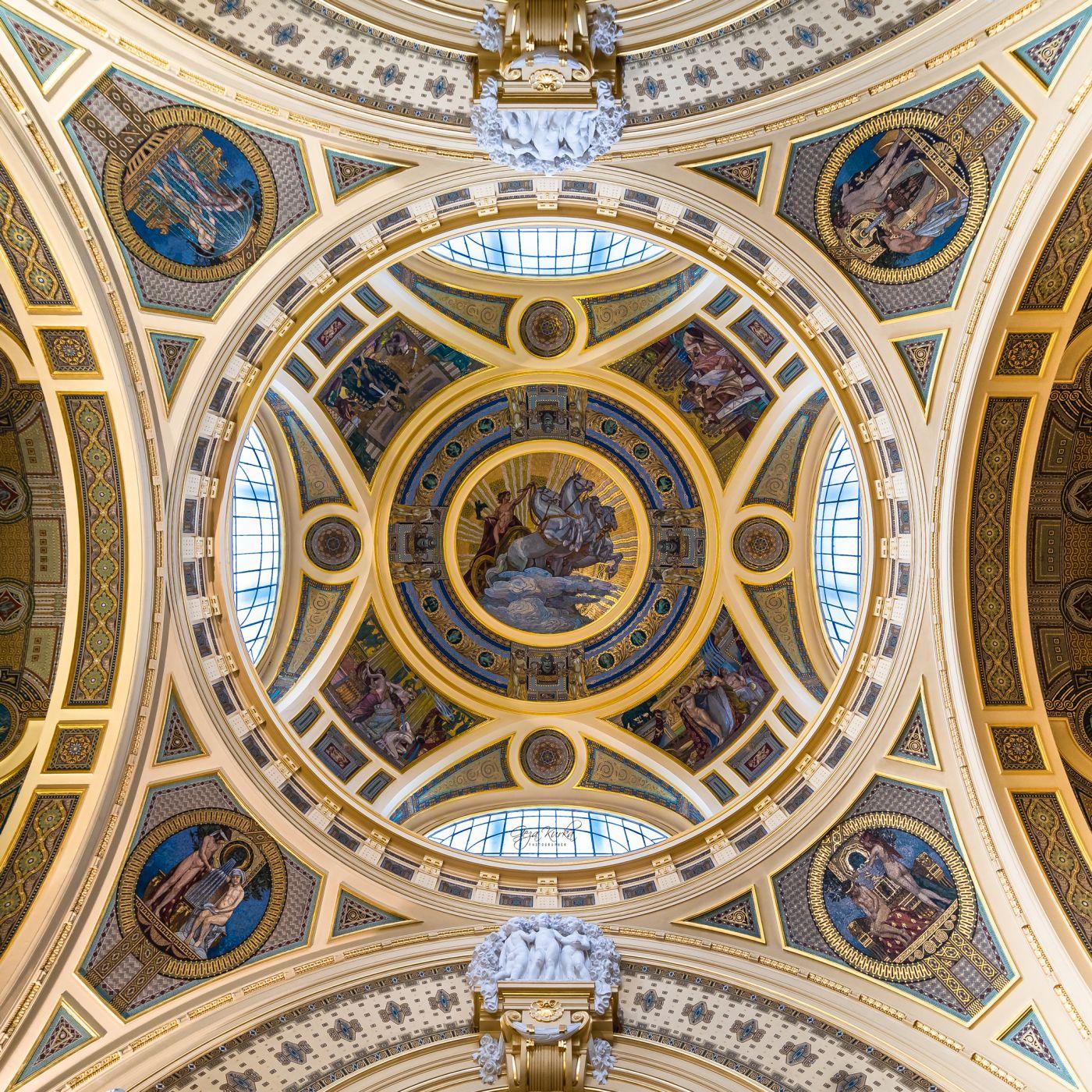 Szechenyi thermal bath's cupola, Hungary