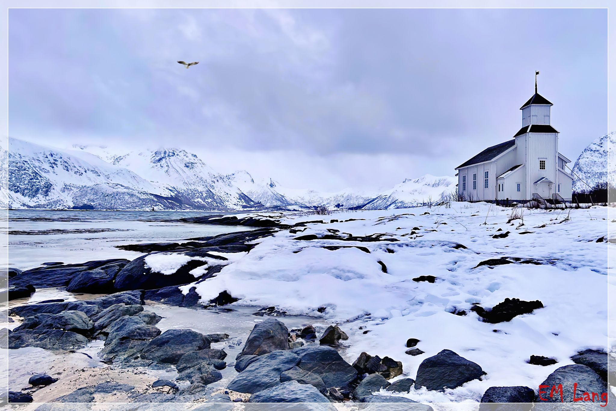 The church of Gimsoy, Norway