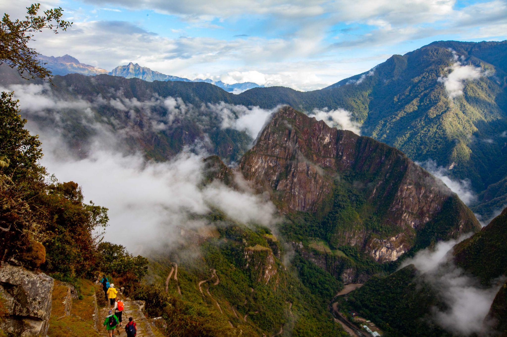 The final early morning walk to Machu Picchu, Peru
