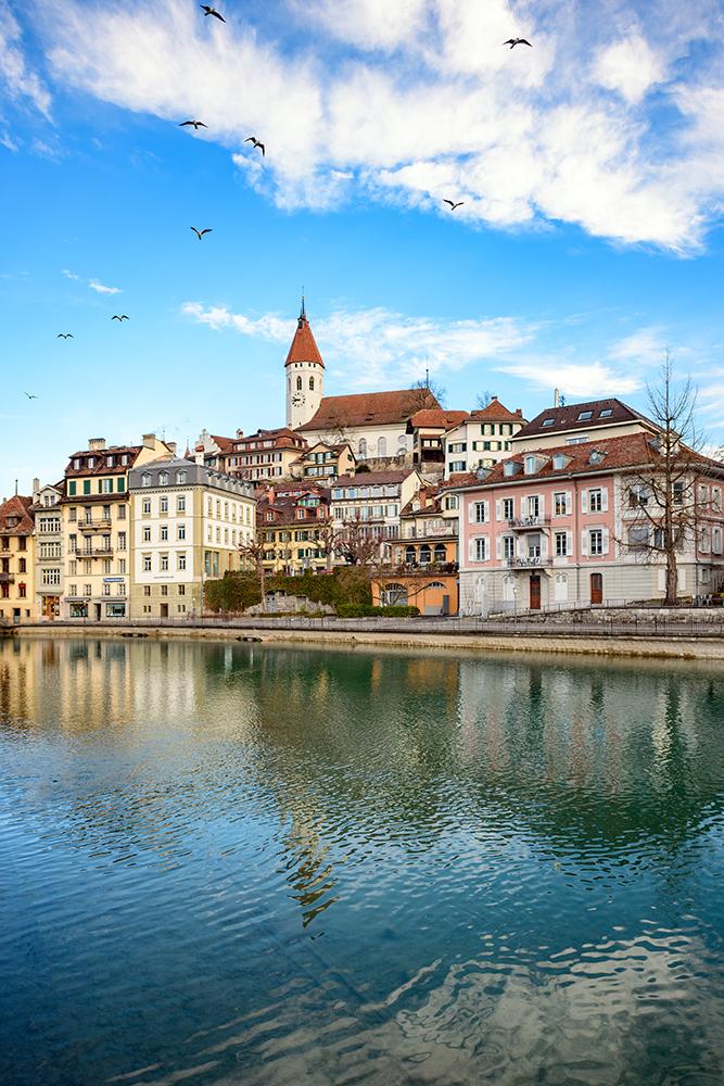 Thun town view in Switzerland, Switzerland