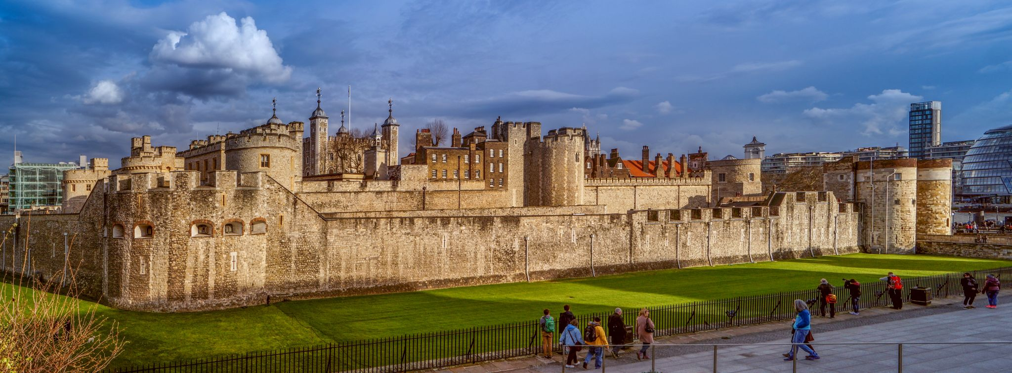Tower of London, outside view, United Kingdom