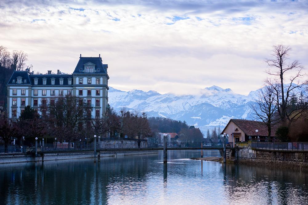 Town Thun in Switzerland, Switzerland