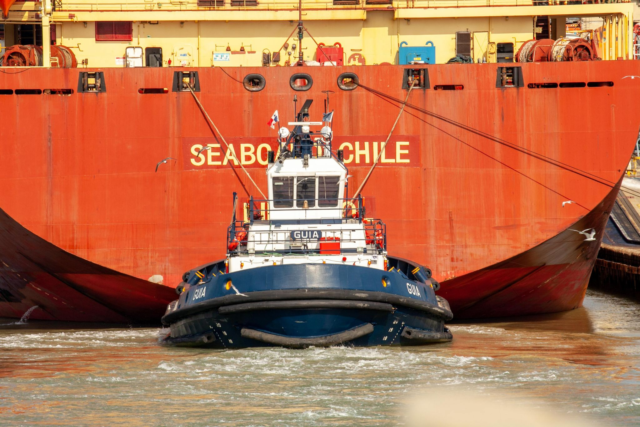 Tug Boat assisting a ship Panama Canal, Panama