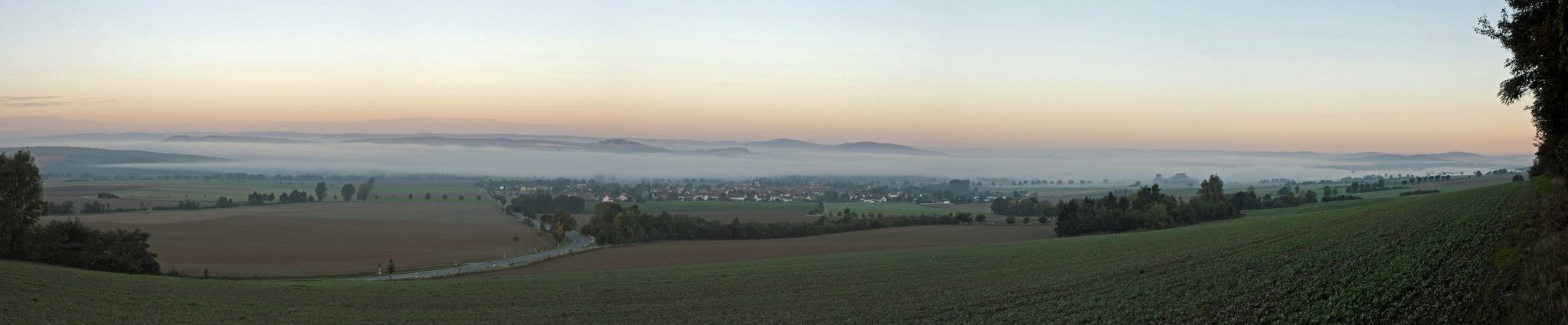 View of the Leinetal, Germany