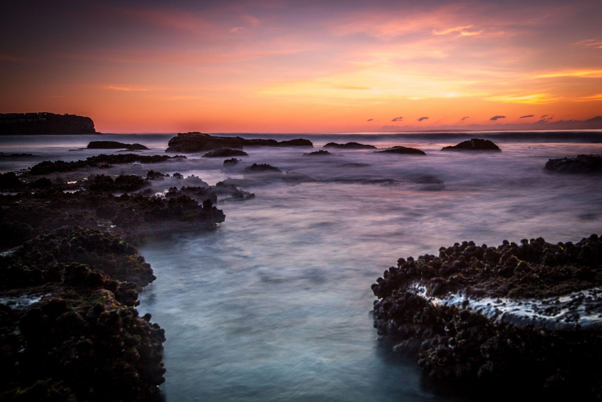 White Rock sunrise, Newport Beach, Sydney, New South Wales, Australia
