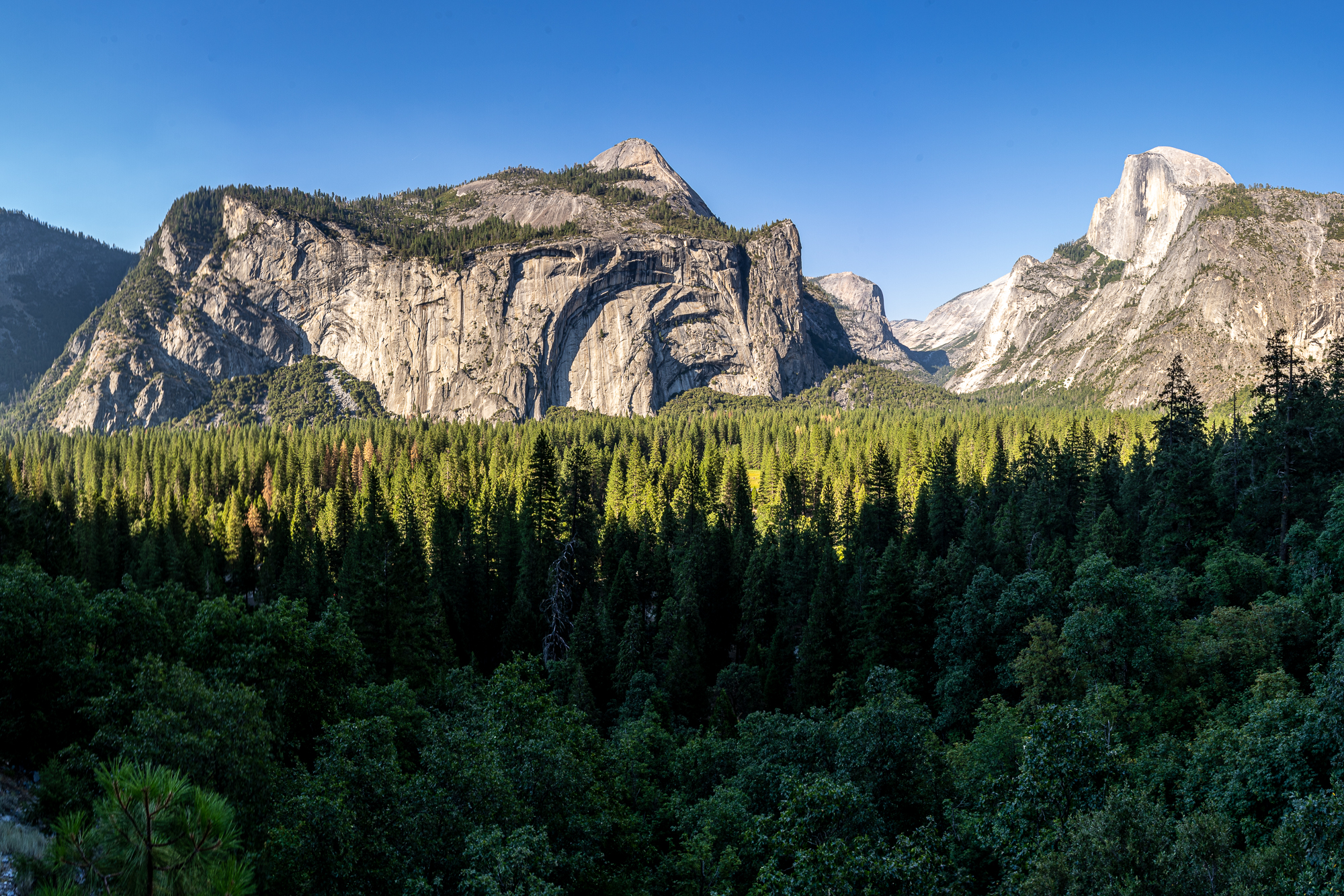 Yosemite Valley view - nearly unknown location, USA