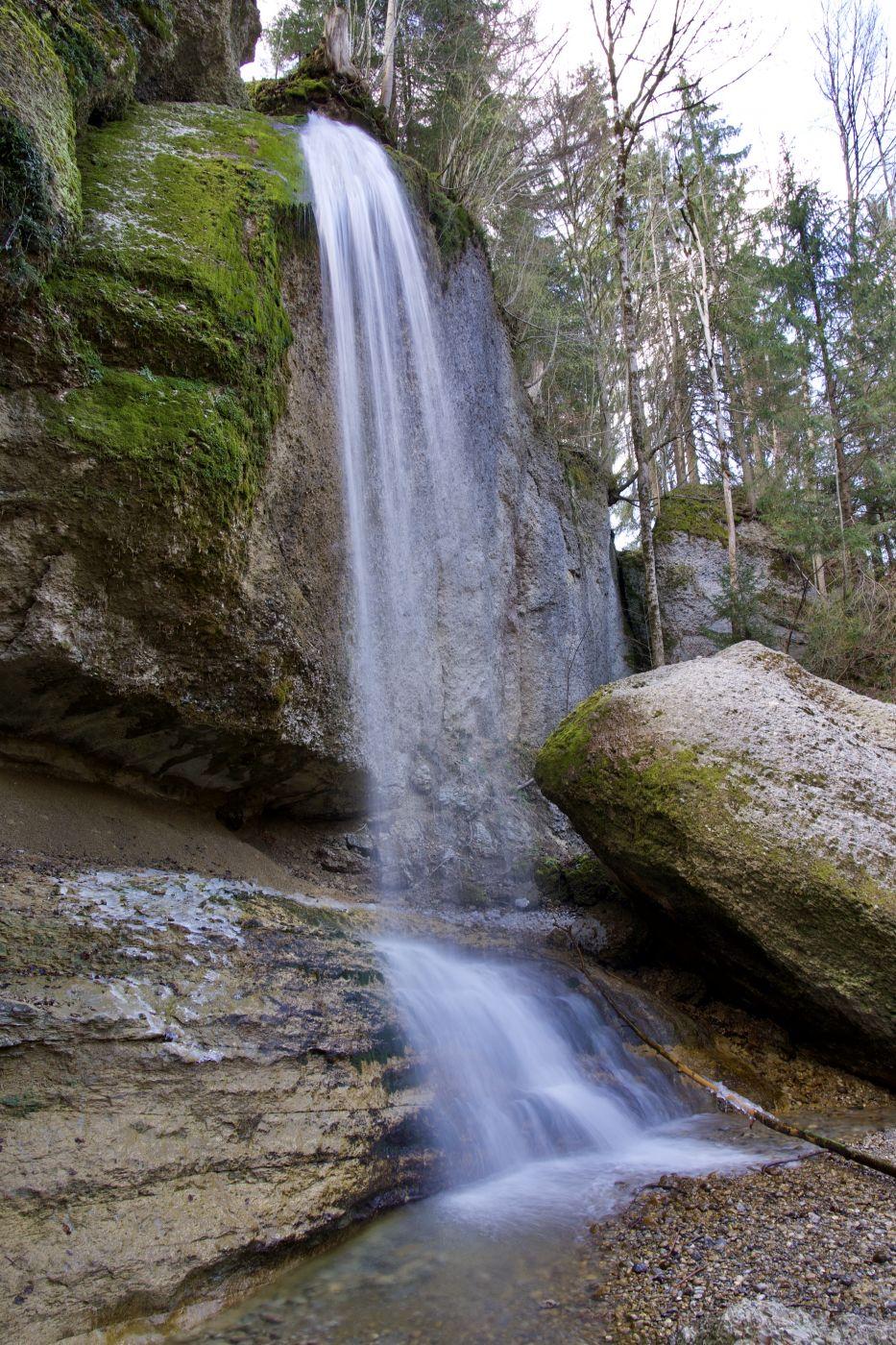 Äulischlucht mit Wasserfall, Switzerland