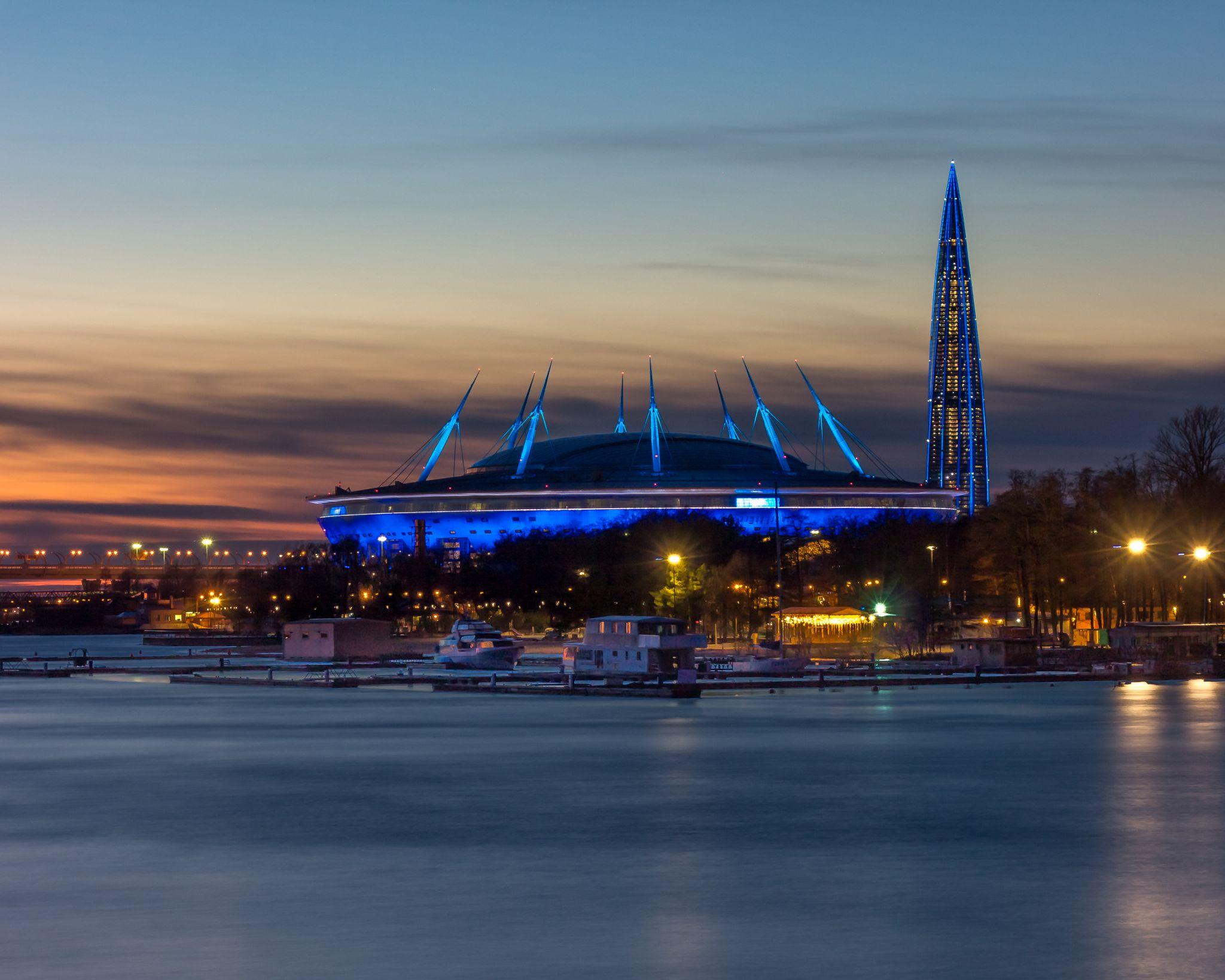 Bolshoi Petrovsky Bridge, Gazprom Arena, Lakhta Center, Russian Federation