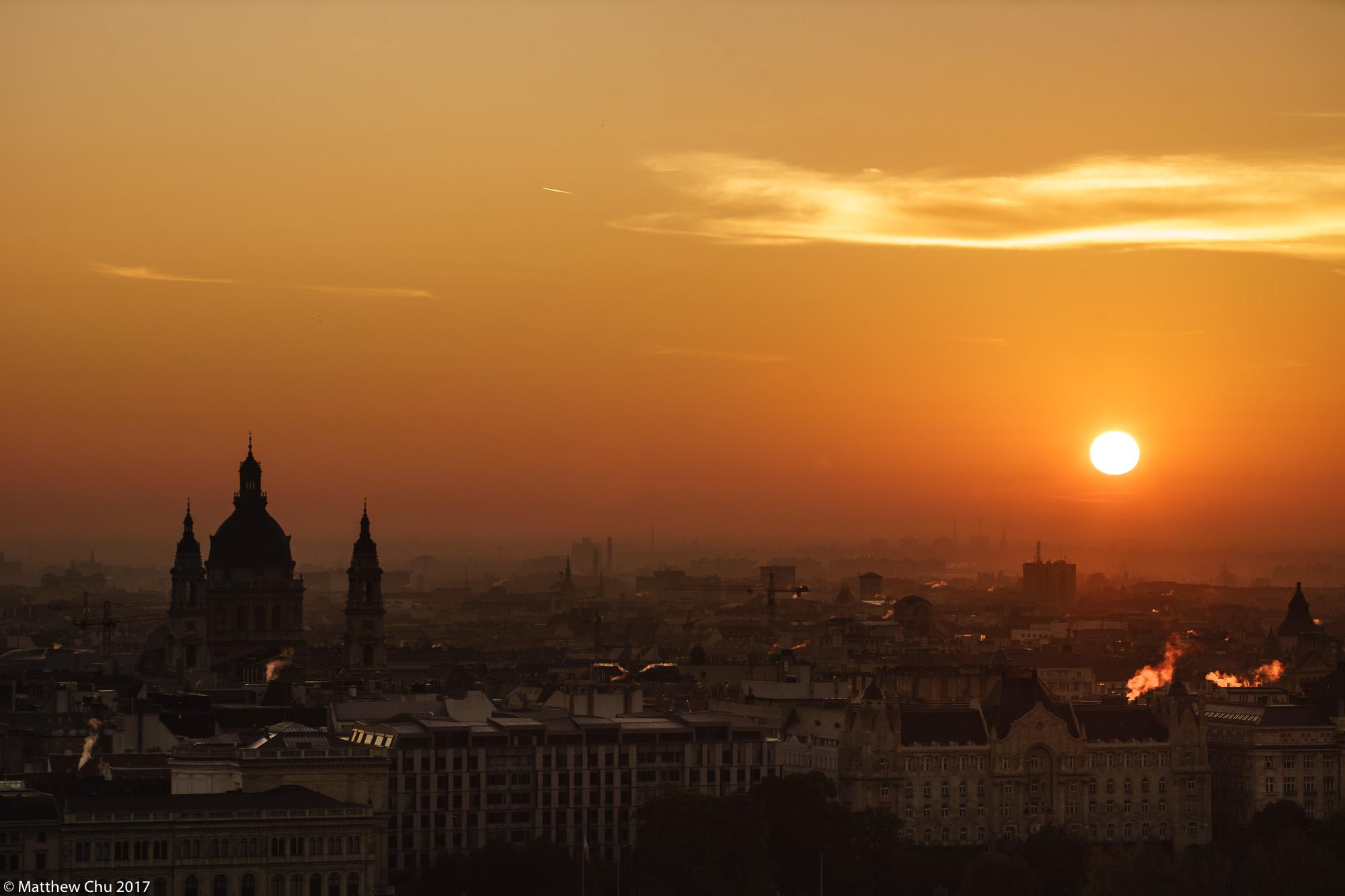 Budapest sunrise from Fisherman's Bastion, Hungary