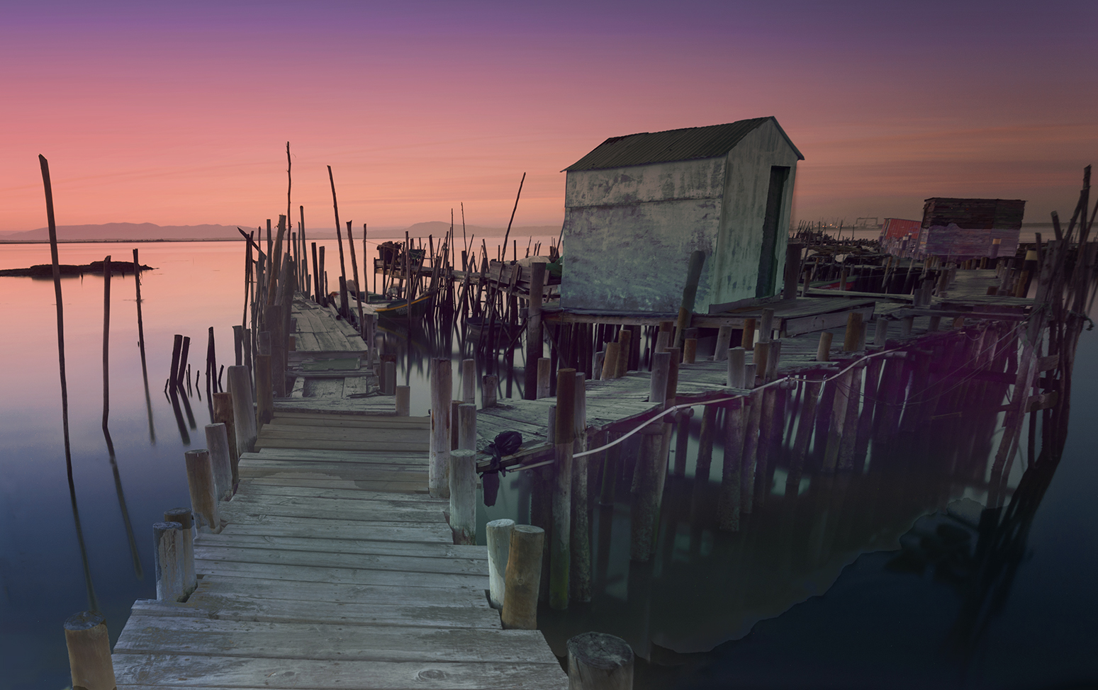 Carrasqueira at sunset, Portugal