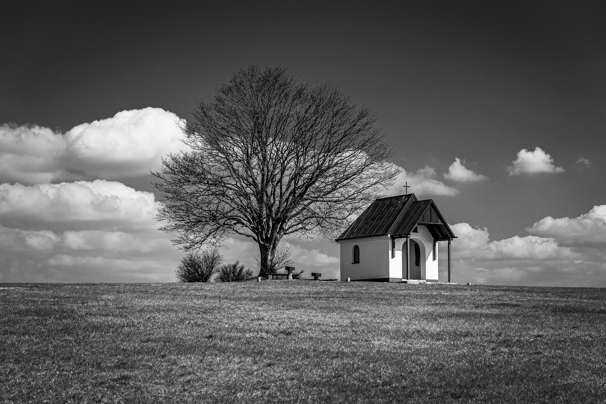 Chapel with Peach Tree, Germany