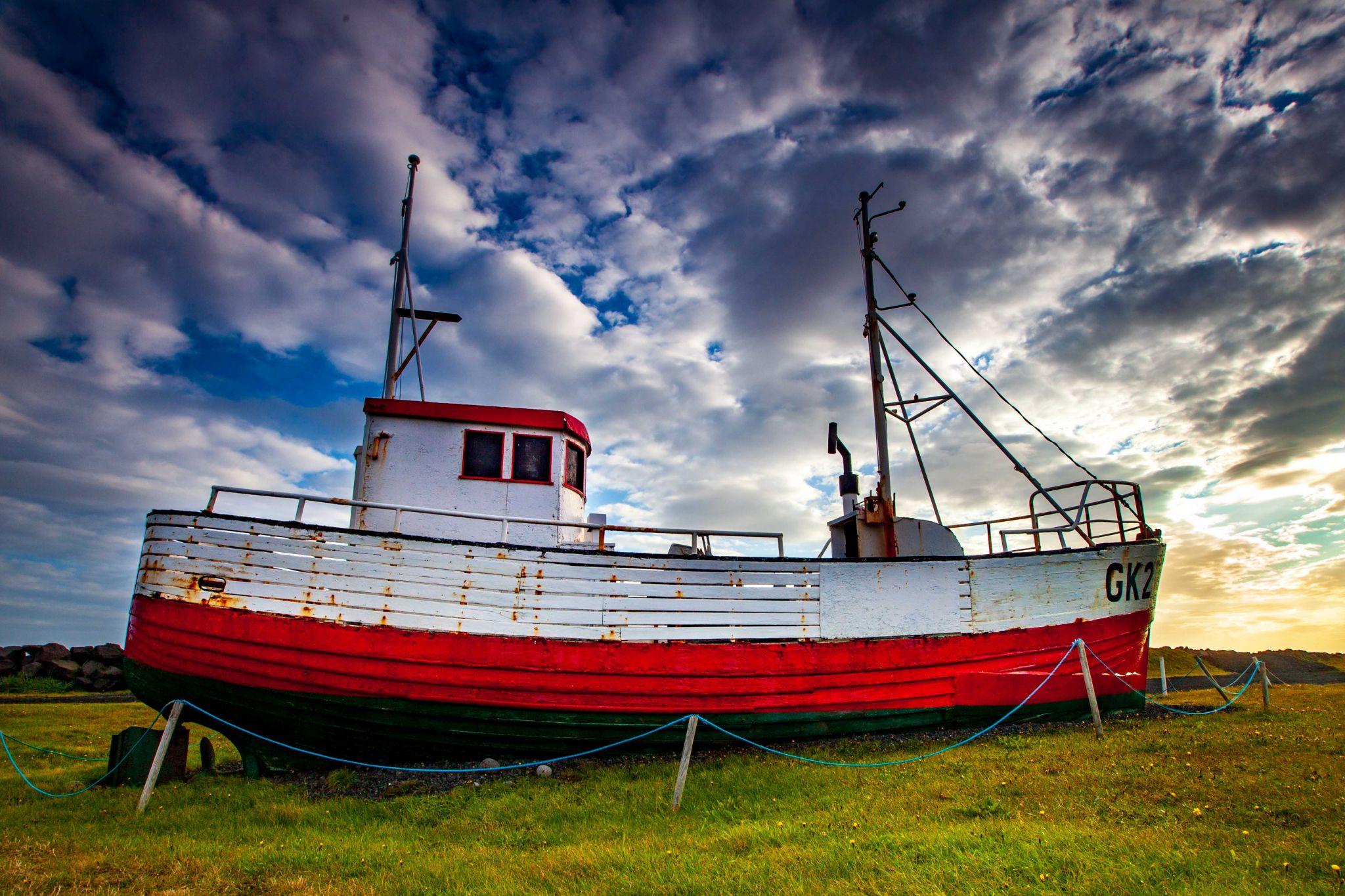Fishing Boat Gardur Folk Museum, Iceland