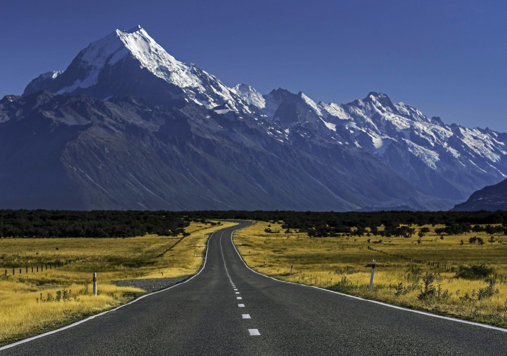 Mount Sefton-Mount Cook Highway, New Zealand