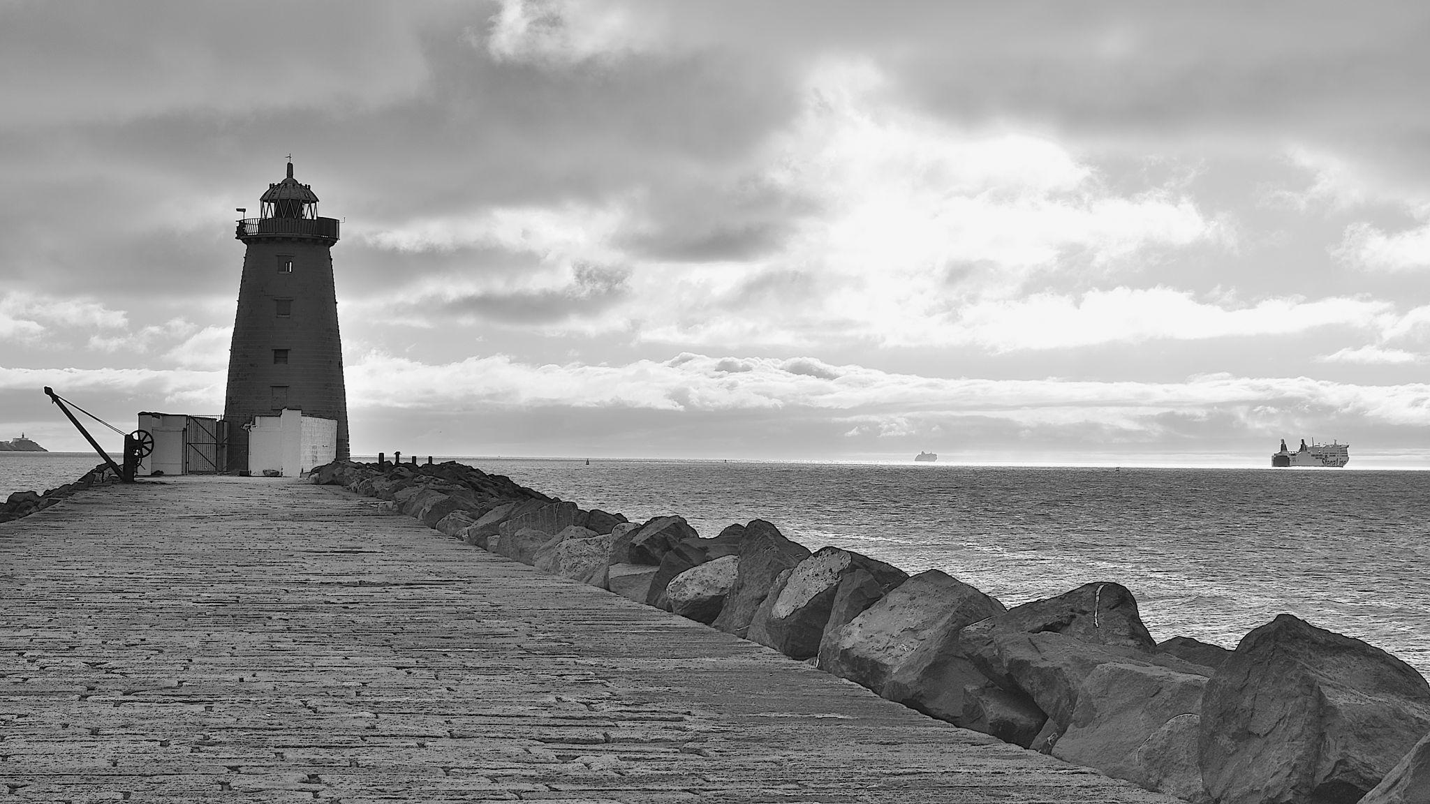 Poolbeg Lighthouse, Dublin., Ireland