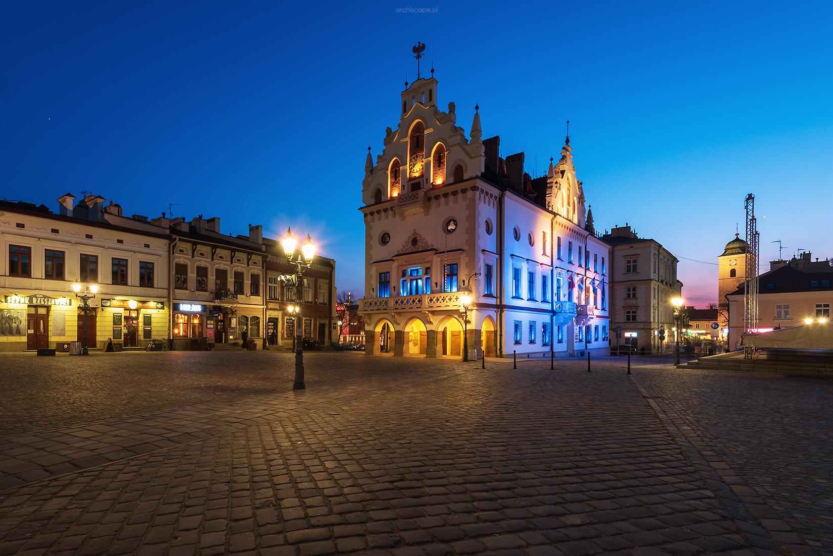 Rzeszów Market Square and City Hall, Poland