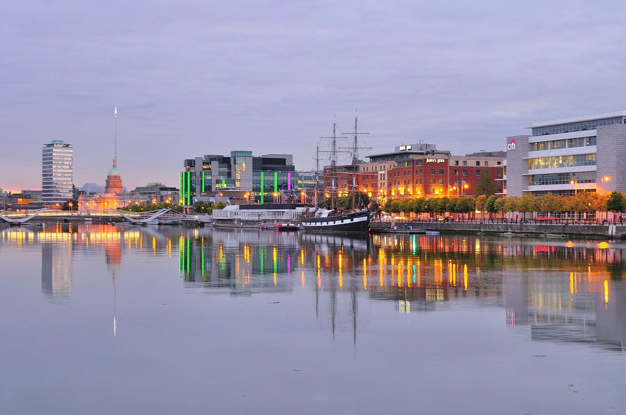 Side of River Liffey, Dublin, Ireland