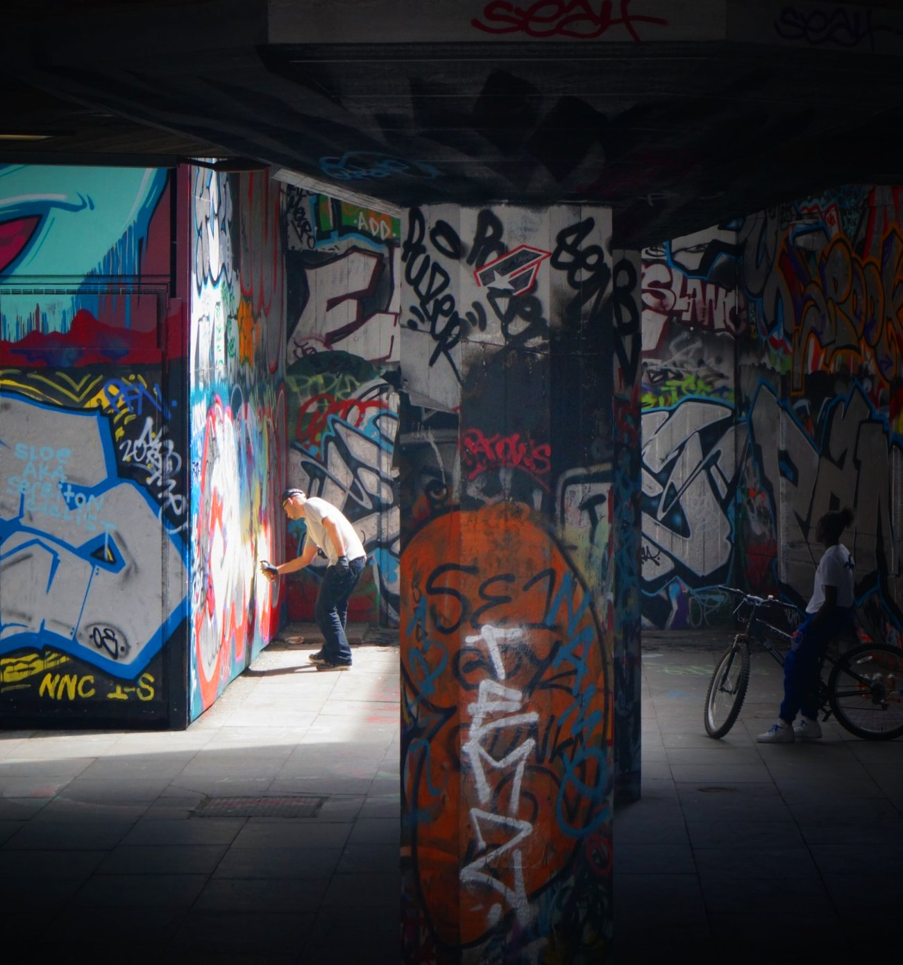 South Bank skate space in London, United Kingdom